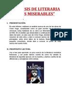 ANÁLISIS Los miserables
