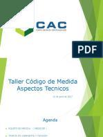 CAC Taller Código de Medida