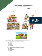 evaluacion de sociales primer periodo