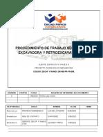 DR-ME-PR-PR-005 PTS PROCEDIMIENTO DE TRABAJO SEGURO DE EXCAVADORAS Y RETROEXCAVADORAS