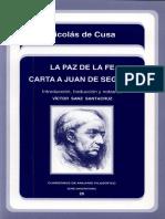 La Paz De La Fe - Carta A Juan De Segovia