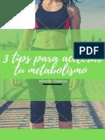 3 tips para acelerar el metabolismo