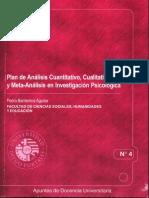 Análisis Cuantitativo, Cualitativo y Metaanálisis en Investigación Psicológica