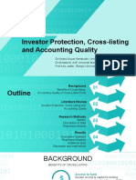 Investor protection, cross-listing and accounting quality