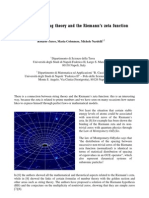 Links between string theory and the Riemann's zeta function