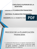 Unidad 4 Planeación Financiera
