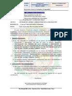 INFORME N°069 - 073 INFORME DE LABORES JUNIO JULIO AGOSTO SETIEMBRE OCTUBRE