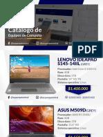 Catálogo de Equipos de Computo