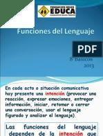 Funciones del  lenguaje 8° BÁSICO.ppt