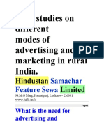modes of advertising and