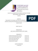 PAD390 - ASSIGNMENT REPORT -  ROSNIZA