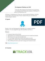 8 BEST Low-Code Development Platforms in 2020