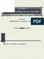 Assembly Language Programming - CS401 Power Point Slides Lecture 03.ppt