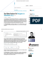 Top 6 New Features for Designers in SharePoint 2013 ← Randy Drisgill