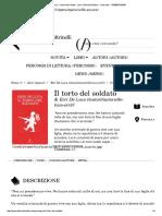 Erri De Luca - Il torto del soldato - Libro Feltrinelli Editore - I Narratori - 9788807019036