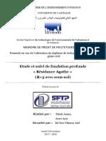 Mémoire fin d'étude Etude et suivi de fondation profonde  « Résidance Agathe »   (R+3 avec sous-sol)