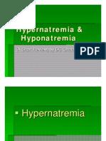 Hypernatremia & hyponatremia