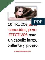 10 TRUCOS para un cabello más brillante y grueso EBOOK