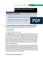 special transaction Banking