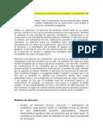 PRESENTACION TECNICAS Y DESCRIPCION DEL PROCESO DE SELECCION