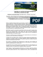 Eficiência de fungicidas no controle de fungos patogênicos veiculados à semente de trigo