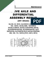 YALE GDP40VX drive axle dry brake