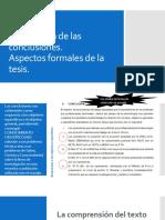 Conclusiones en la elaboración de tesis