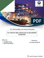 Conflit de lois dans le transport maritime