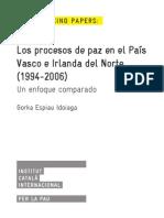 Los procesos de paz en el País Vasco e Irlanda del Norte (1994-2006) Un enfoque comparado