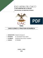 Caso 3 FRACTURA DE MUÑECA- ARREDONDO SORIA AMARU