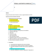 ACTA DE ENTREGA ASISTENTE COMERCIAL