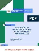 PRESENTACION DECRETO 678 DE 2020