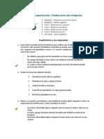 Plan de capacitación  Elaboración de composta - Cuestionarios
