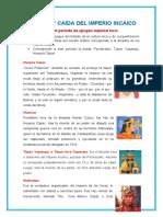 APOGEO Y CAÍDA DEL IMPERIO INCAICO