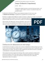 Administración del Tiempo (definición e importancia)