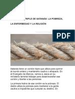 EL CORDÓN TRIPLE DE SATANÁS