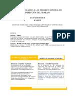 MODIFICATORIA DE LA LEY 28806 LEY GENERAL DE INSPECCIÓN DEL TRABAJO