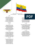 simbolos patrios del ecuador