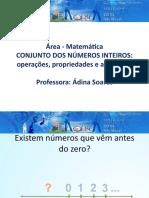 Conjuntos dos números inteiros operações^J propriedades e aplicações