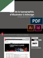 typographie dillustrator et indesign