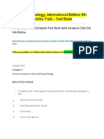 Clinical Psychology, International Edition 8th Edition by Timothy Trull – Test Bank