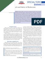 Abordagem Prática e Segurança de Cargas de Ácido Hialurônico