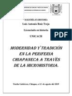 Modernidad y tradición en la periferia chiapaneca a través de la microhistoria