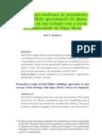 QUEIROZ, J. J. Vestigios pós-modernos no pensamento de Paul Tillich_aproximações de alguns conceitos da sua teologia com a teoria da complexidade de Edgar Morin