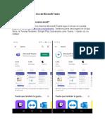 Manual de Instalación e Uso de Microsoft Teams Moviles