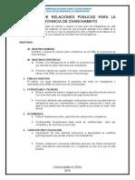 PROGRAMA DE RELACIONES PÚBLICAS PARA LA UGEL DE LA PROVINCIA DE CHANCHAMAYO