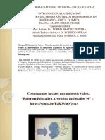 CLASE 10- Tema II.4 Reformas de la Educación y políticas de equidad. La Ley Federal de Educación