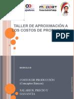 II TALLER DE APROXIMACIÓN A LOS COSTOS, PRECIOS