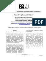 Paper Clasificacion y Catalogacion de Inventarios Parte II R2M