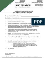 ChecklistForNewServiceContractProviderLicenseApplication